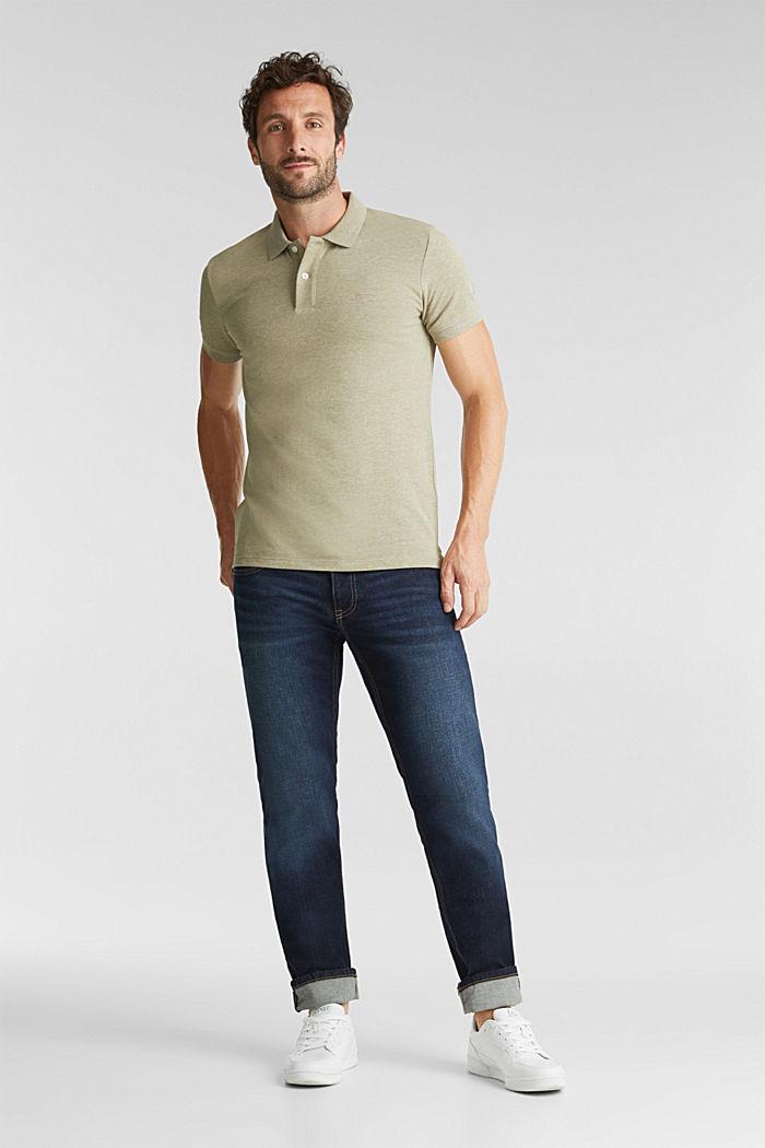 Melange piqué polo shirt, OLIVE, detail image number 2
