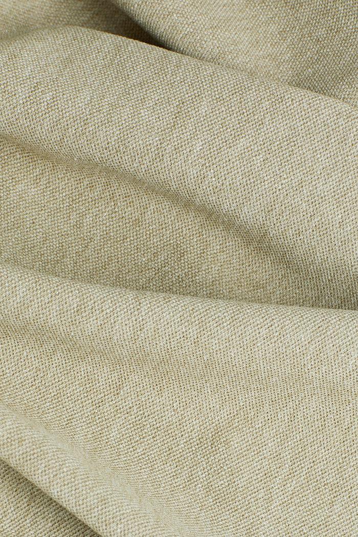 Melange piqué polo shirt, OLIVE, detail image number 4