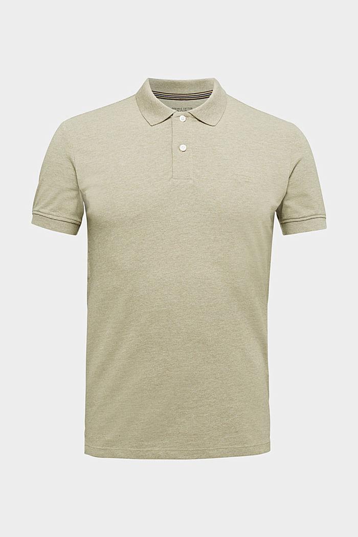 Melange piqué polo shirt, OLIVE, detail image number 6