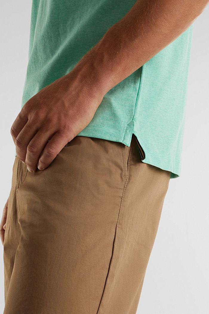 Melange piqué polo shirt, AQUA GREEN, detail image number 4