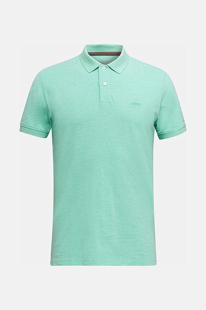 Melange piqué polo shirt, AQUA GREEN, detail image number 5