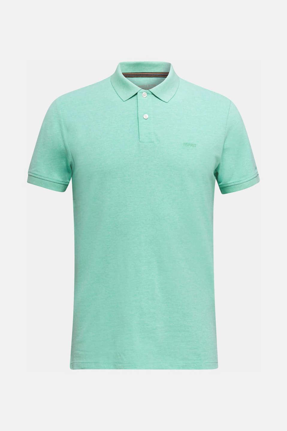Melange piqué polo shirt, AQUA GREEN 5, detail image number 5