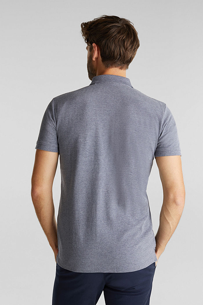 Melange piqué polo shirt, NAVY, detail image number 2