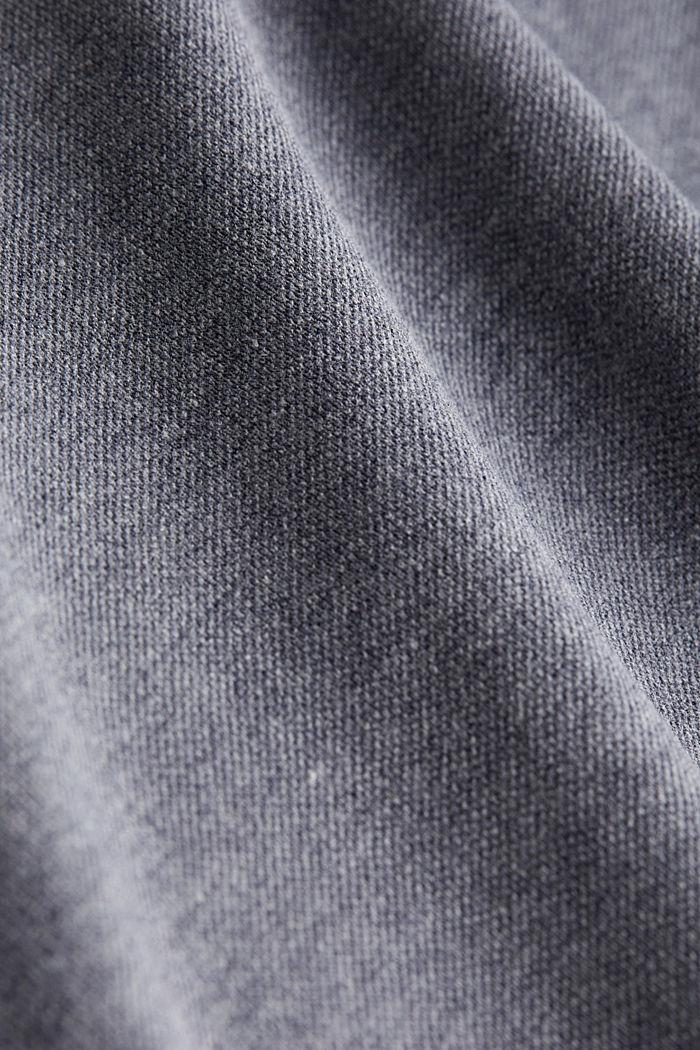 Melange piqué polo shirt, NAVY, detail image number 4