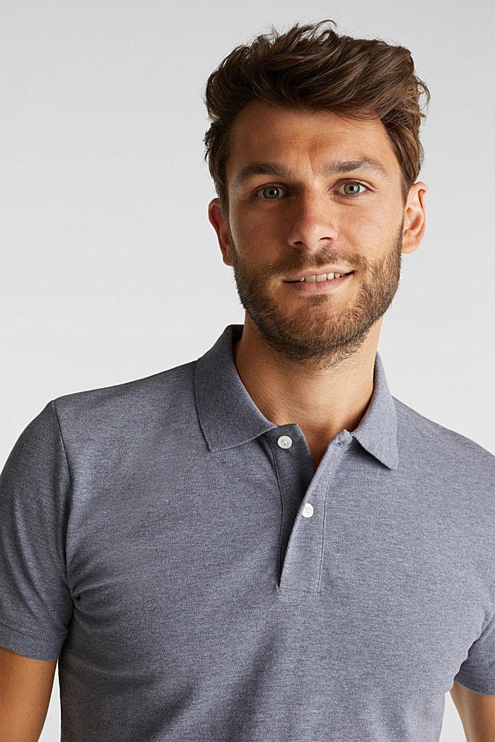 Melange piqué polo shirt, NAVY, detail image number 5