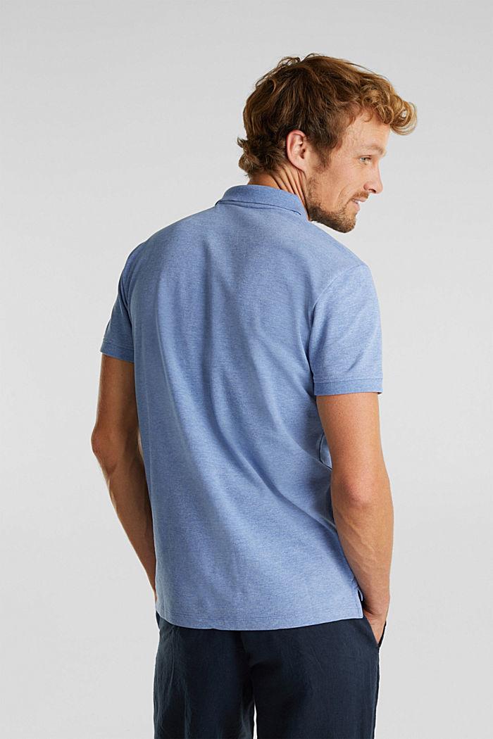 Melange piqué polo shirt, DARK BLUE, detail image number 3