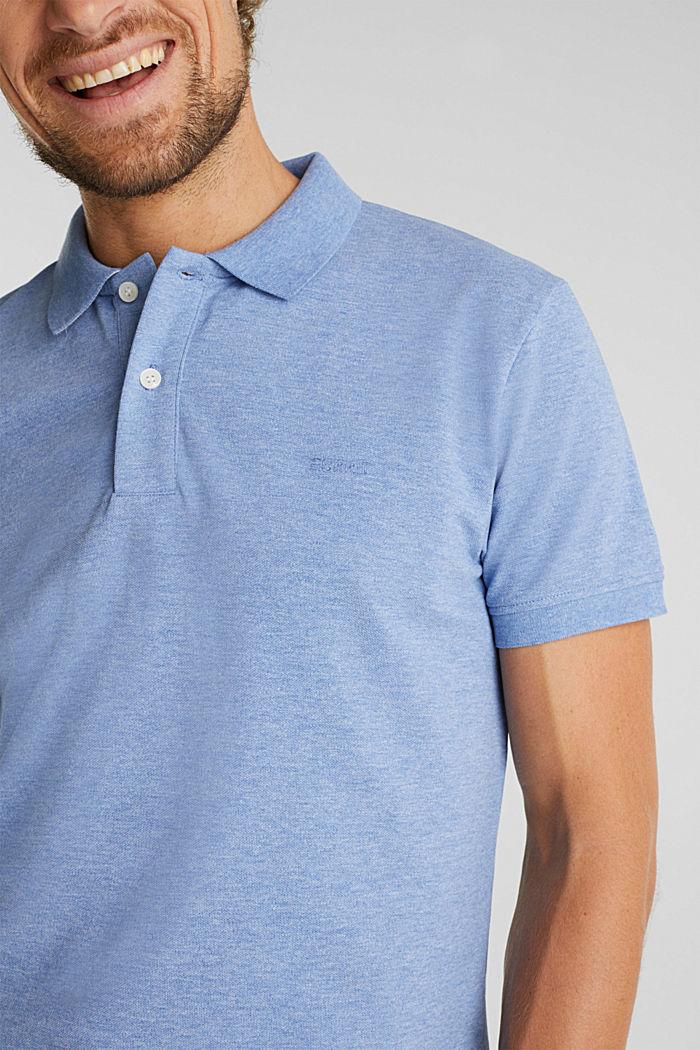 Melange piqué polo shirt, DARK BLUE, detail image number 1