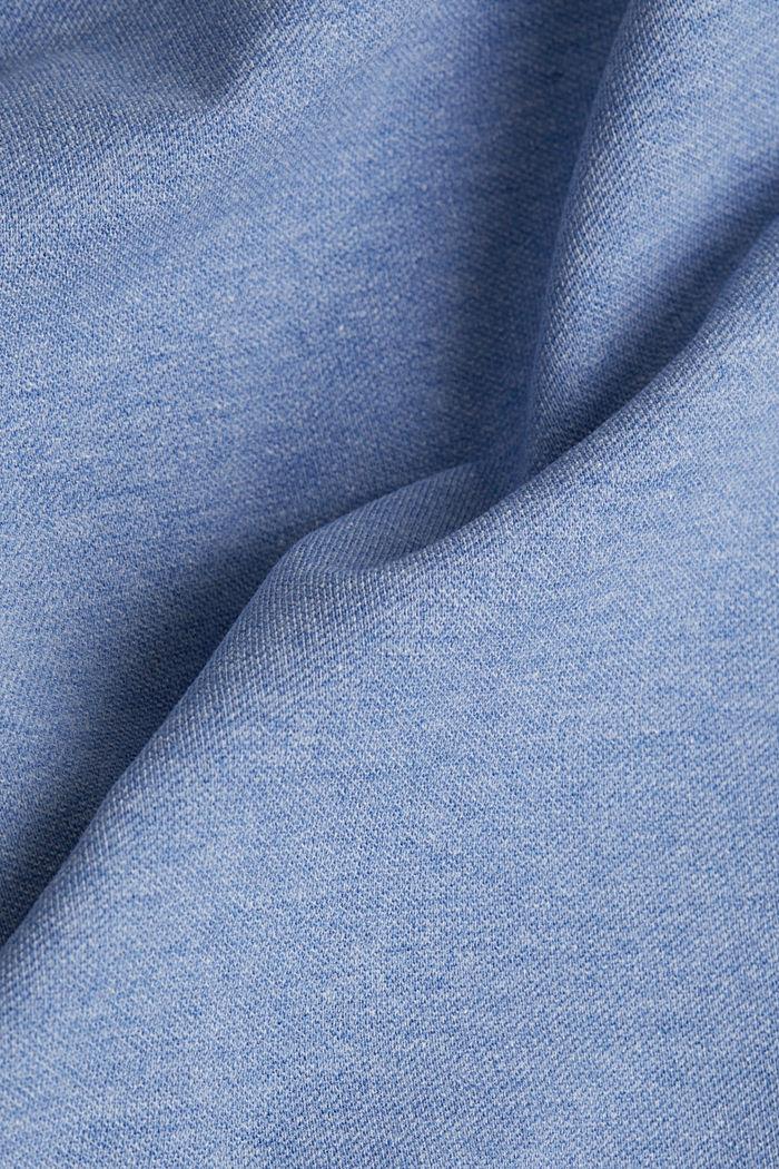 Melange piqué polo shirt, DARK BLUE, detail image number 4