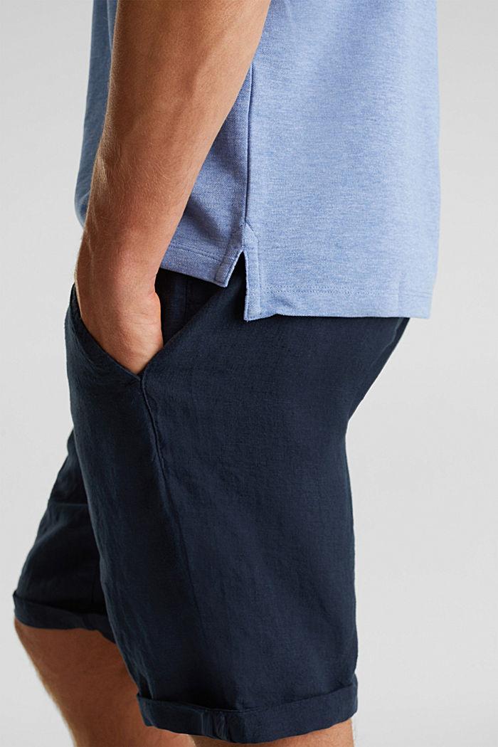 Melange piqué polo shirt, DARK BLUE, detail image number 5
