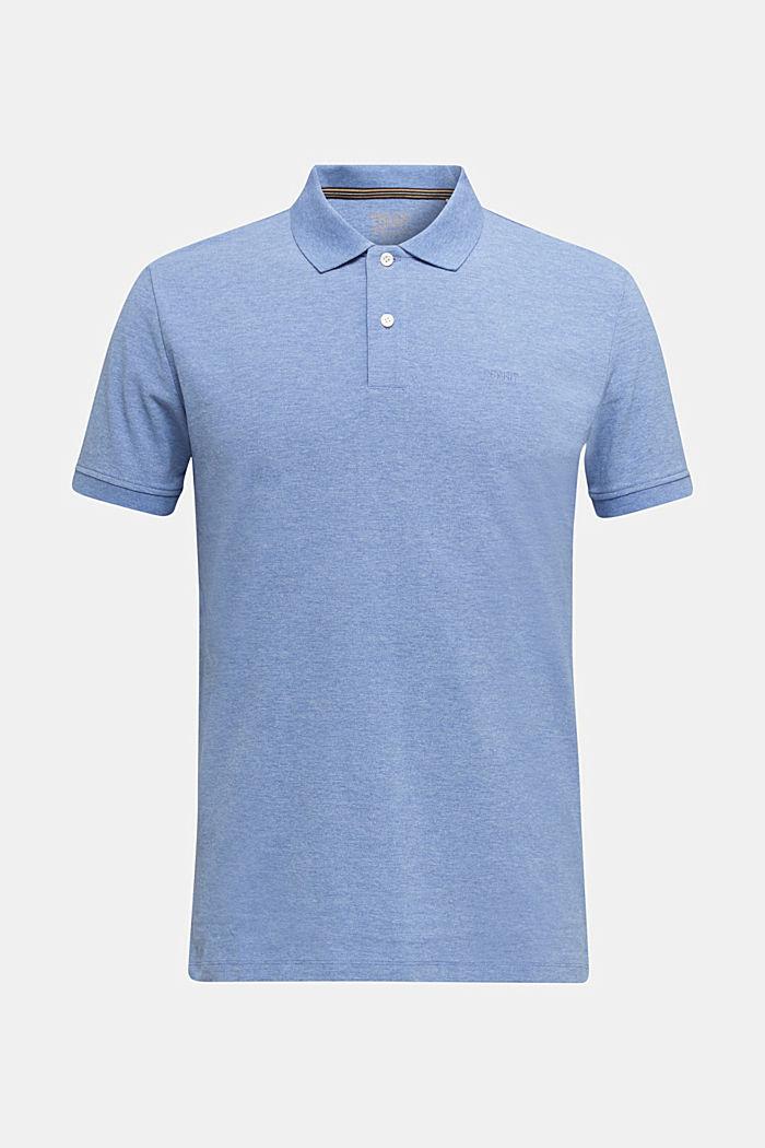 Melange piqué polo shirt, DARK BLUE, detail image number 6