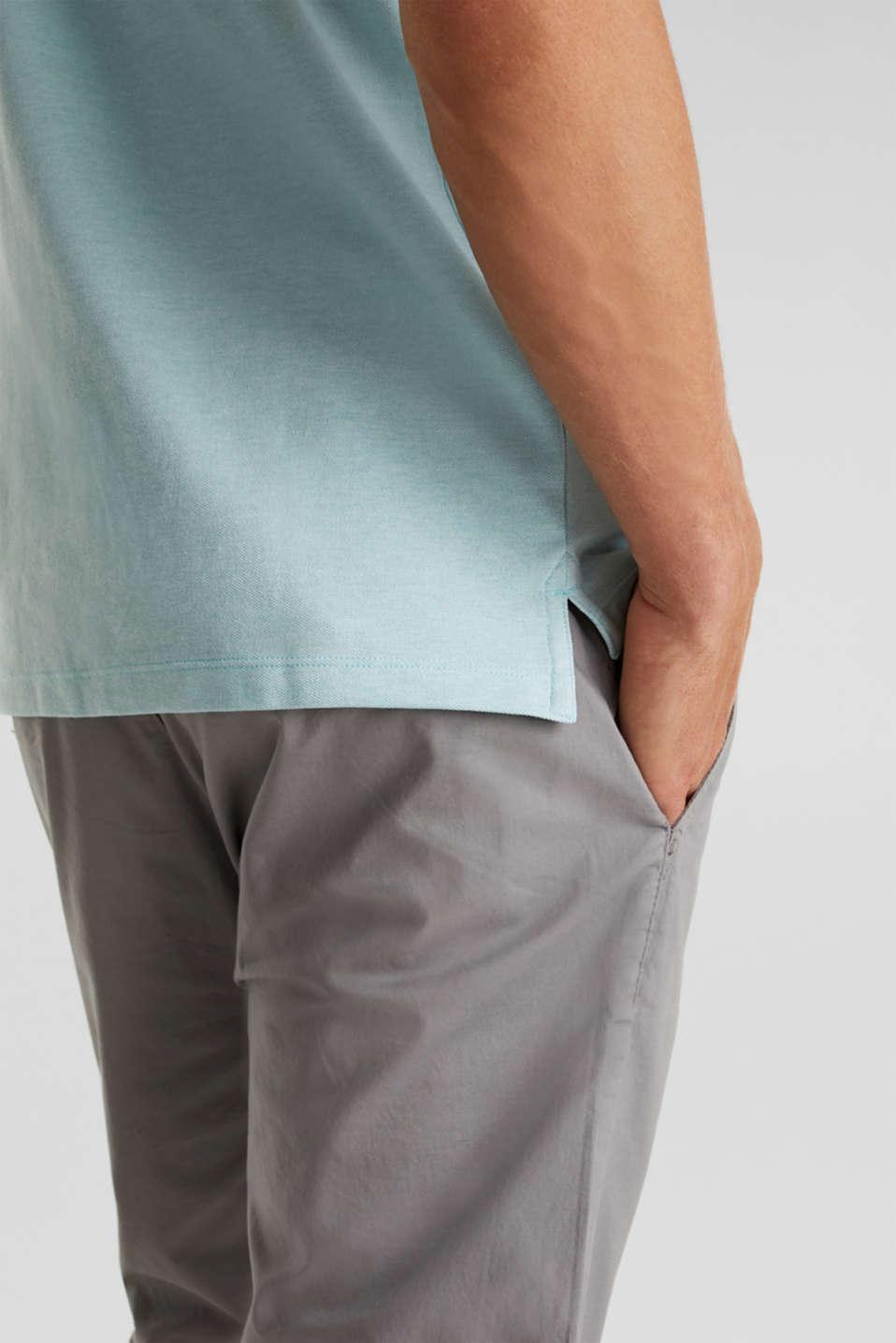 Melange piqué polo shirt, LIGHT BLUE 5, detail image number 1