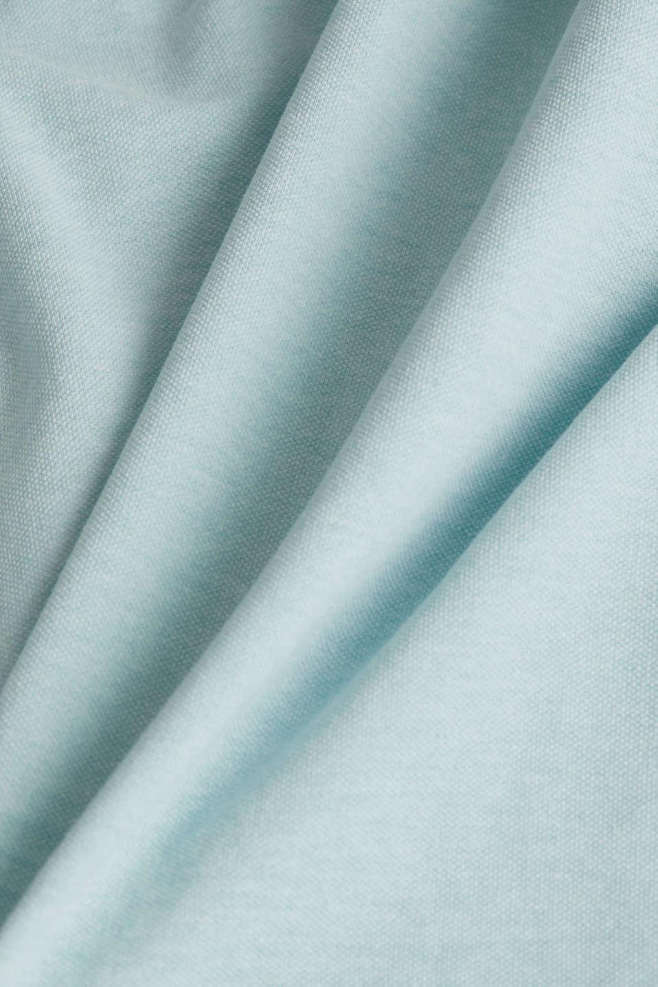 Melange piqué polo shirt, LIGHT BLUE 5, detail image number 4