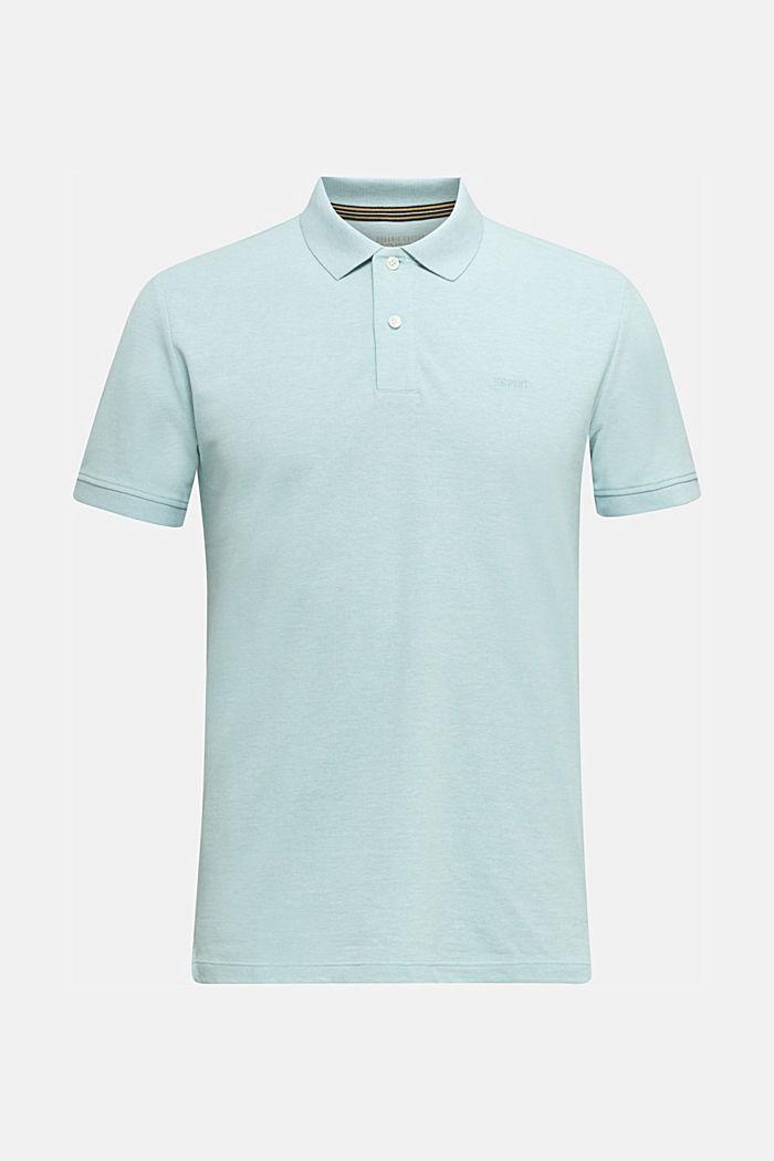 Melange piqué polo shirt, LIGHT BLUE, detail image number 5