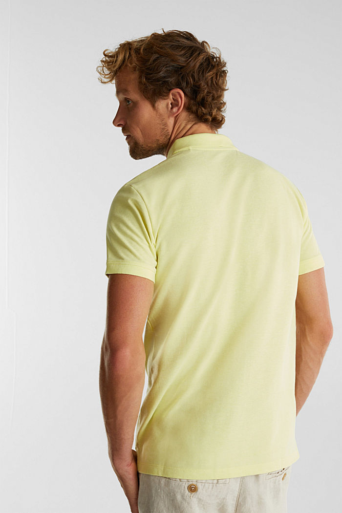 Melange piqué polo shirt, LIGHT YELLOW, detail image number 3