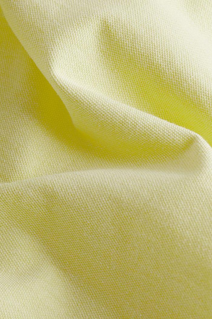 Meliertes Piqué Poloshirt, LIGHT YELLOW, detail image number 4