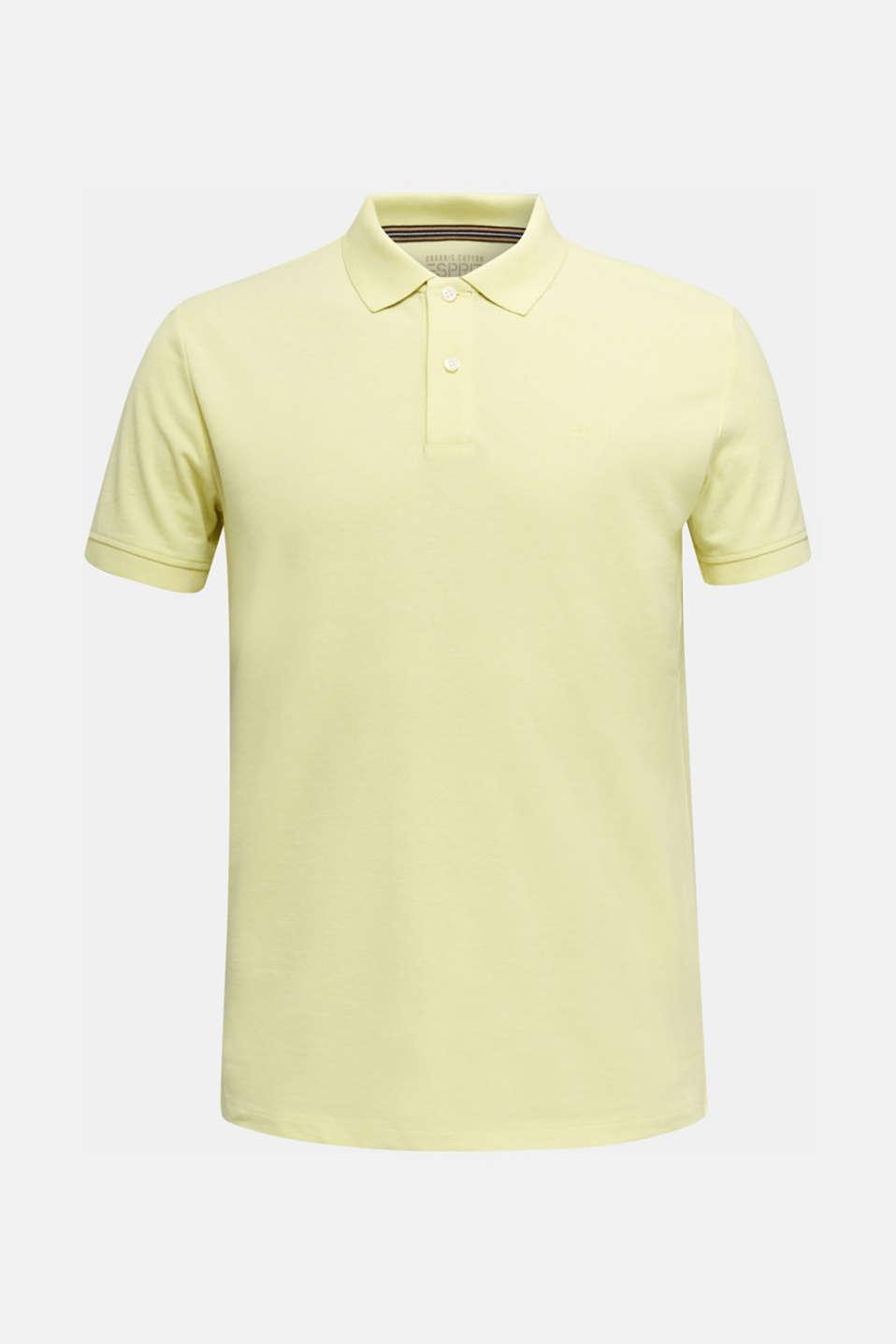Melange piqué polo shirt, LIGHT YELLOW 5, detail image number 5