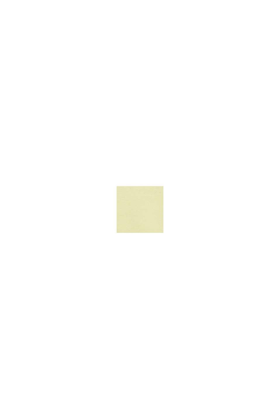 Polo en maille piquée chinée, LIGHT YELLOW, swatch