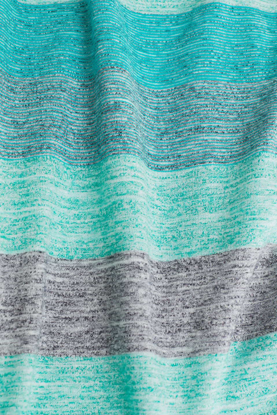 Striped jersey T-shirt, AQUA GREEN 5, detail image number 4