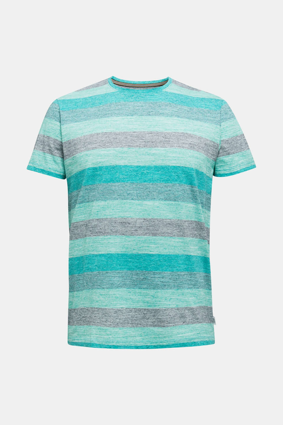 Striped jersey T-shirt, AQUA GREEN 5, detail image number 6