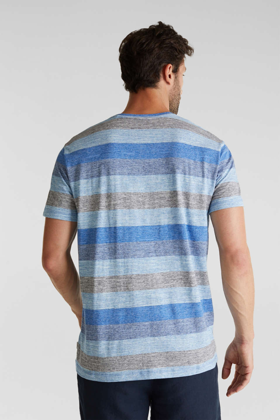 Striped jersey T-shirt, BLUE 5, detail image number 3