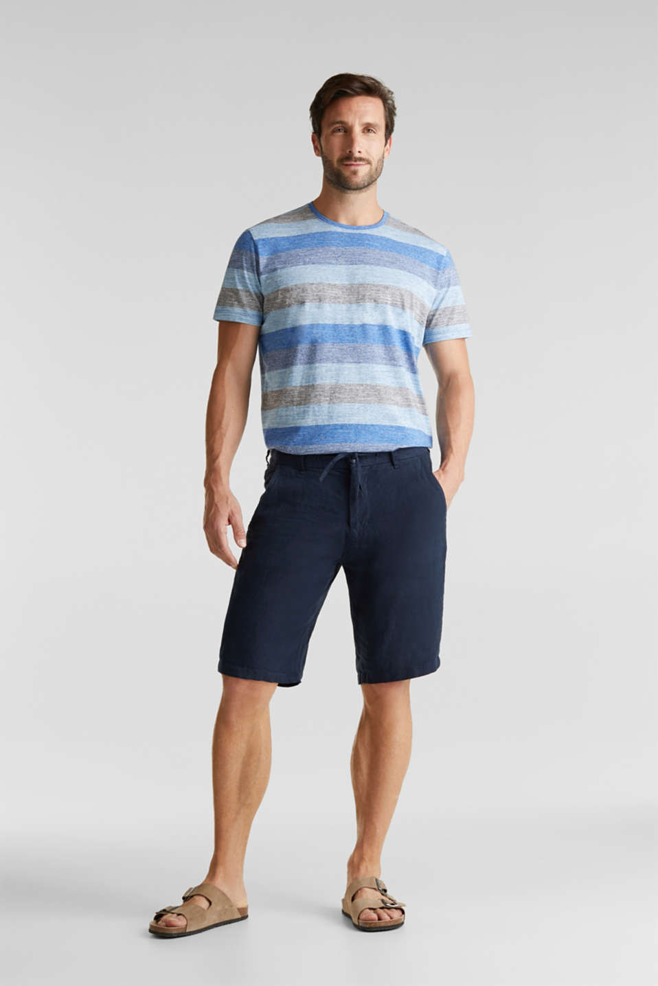 Striped jersey T-shirt, BLUE 5, detail image number 2