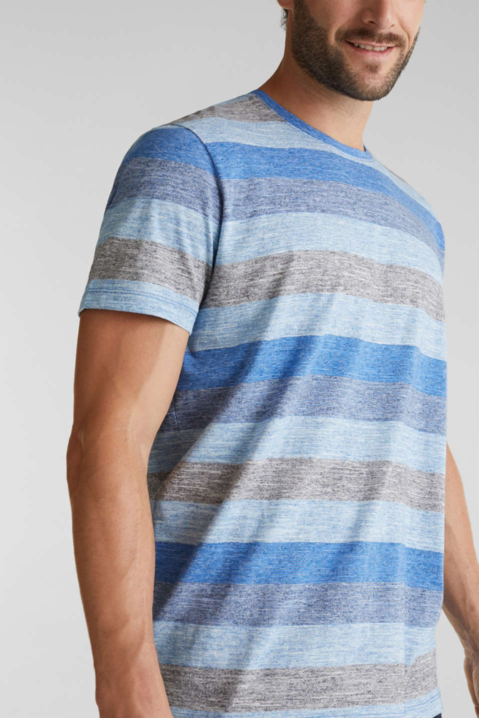 Striped jersey T-shirt, BLUE 5, detail image number 1