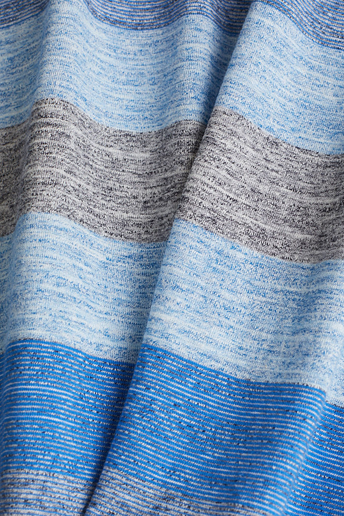 Striped jersey T-shirt, BLUE, detail image number 4
