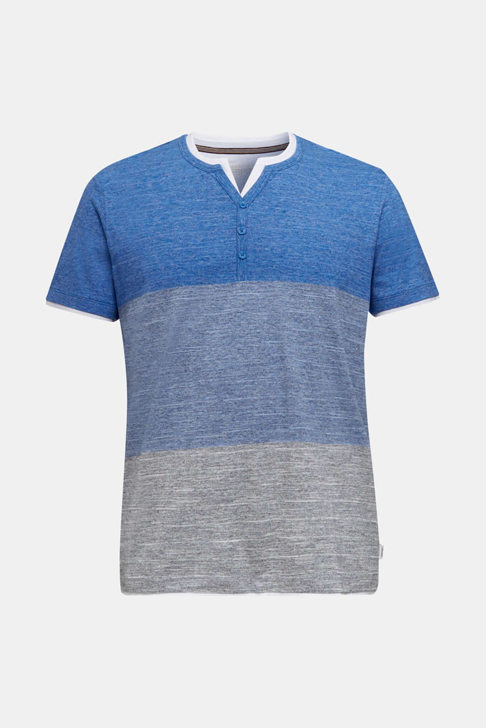 Henley top in jersey with layered details, BLUE 5, detail image number 6