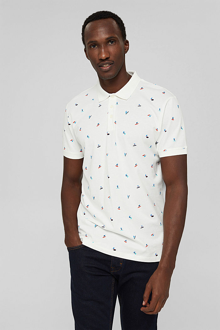 Polo shirts, OFF WHITE, detail image number 0