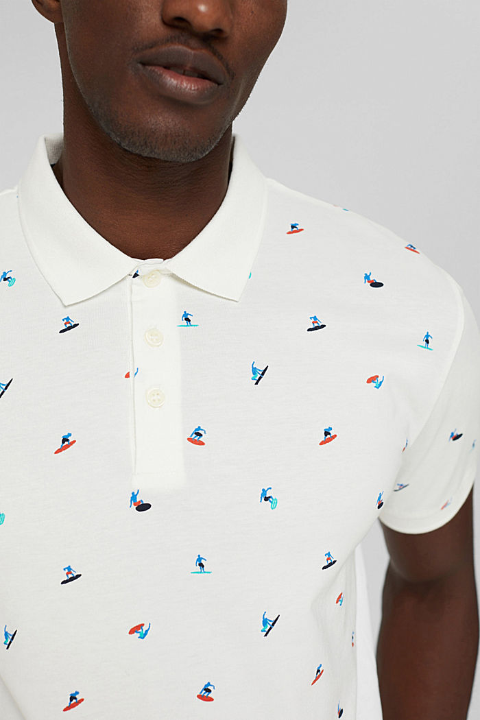 Polo shirts, OFF WHITE, detail image number 1