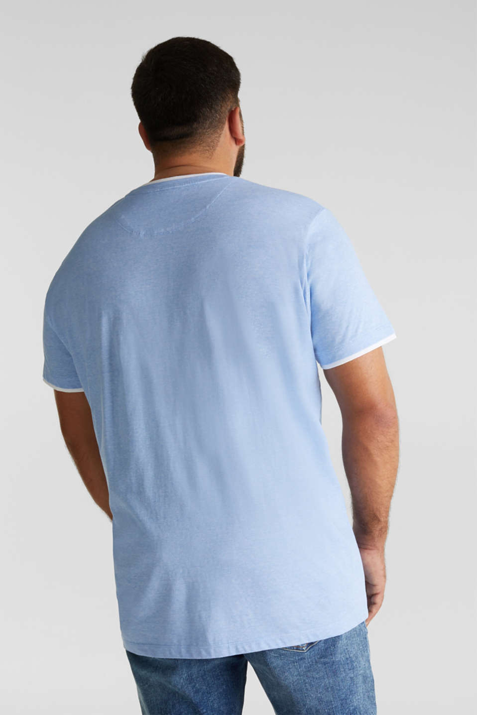Jersey top made of 100% organic cotton, BRIGHT BLUE 3, detail image number 3