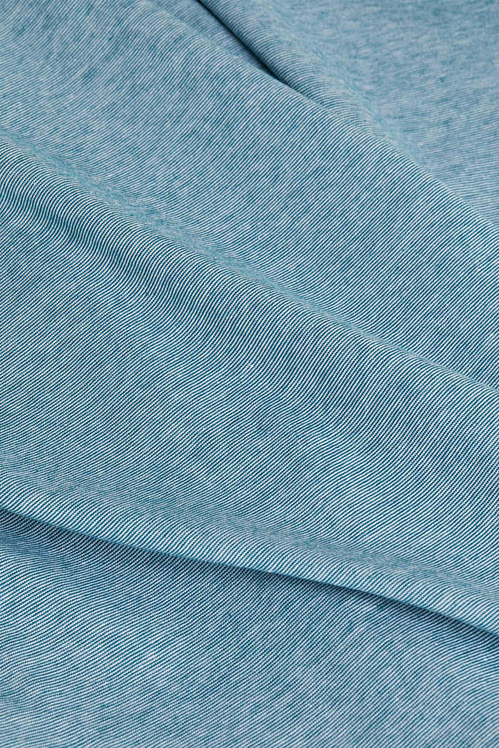 Jersey top made of 100% organic cotton, PETROL BLUE, detail image number 4