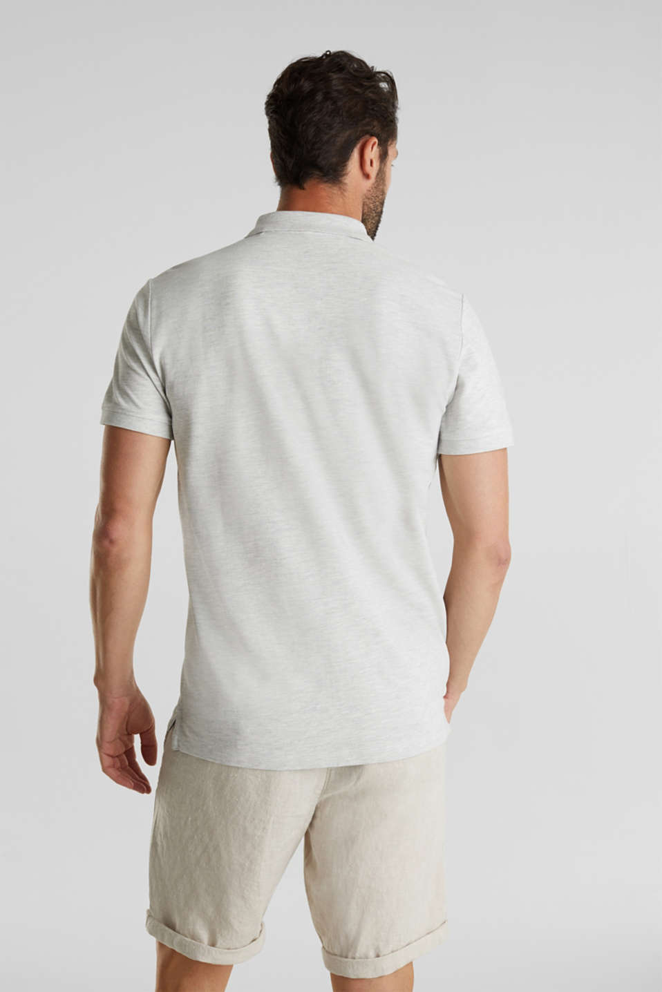 Piqué polo shirt with organic cotton, OFF WHITE 5, detail image number 3