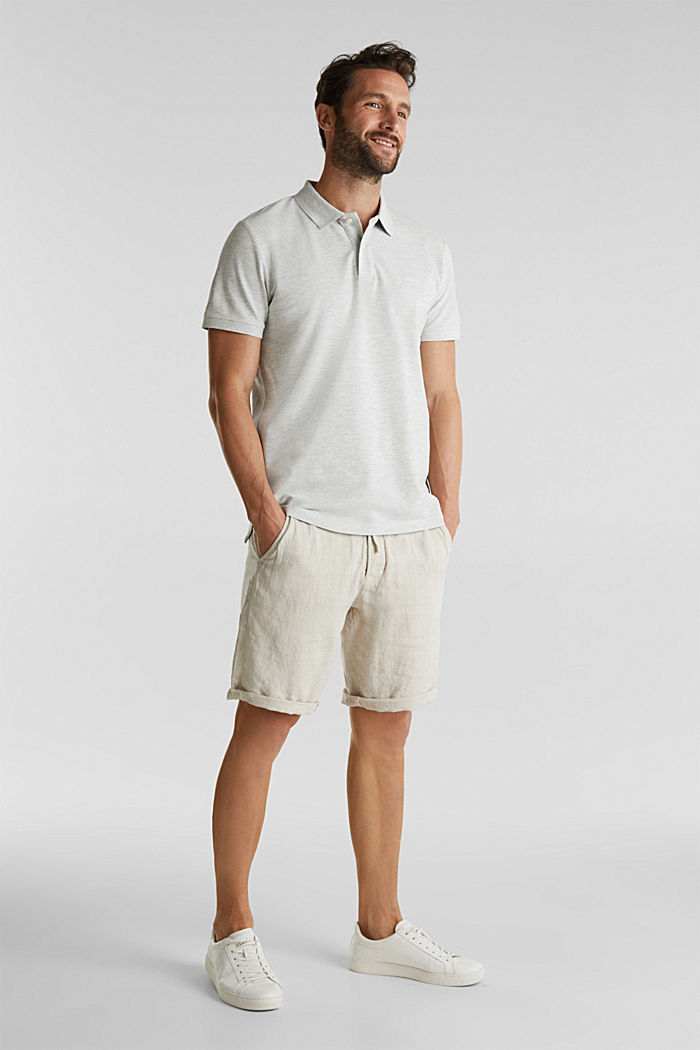 Piqué polo shirt with organic cotton, OFF WHITE, detail image number 2