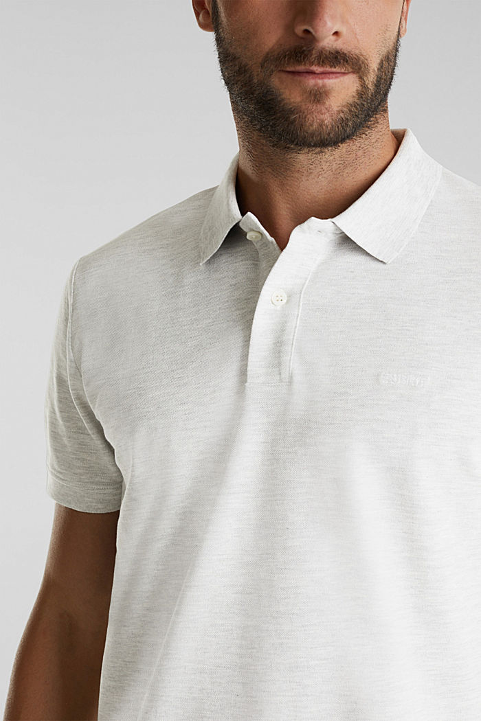 Piqué polo shirt with organic cotton, OFF WHITE, detail image number 1