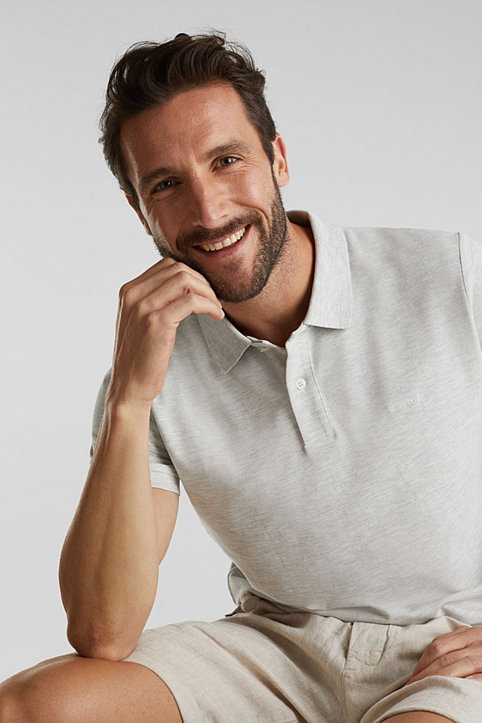 Piqué polo shirt with organic cotton, OFF WHITE, detail image number 6