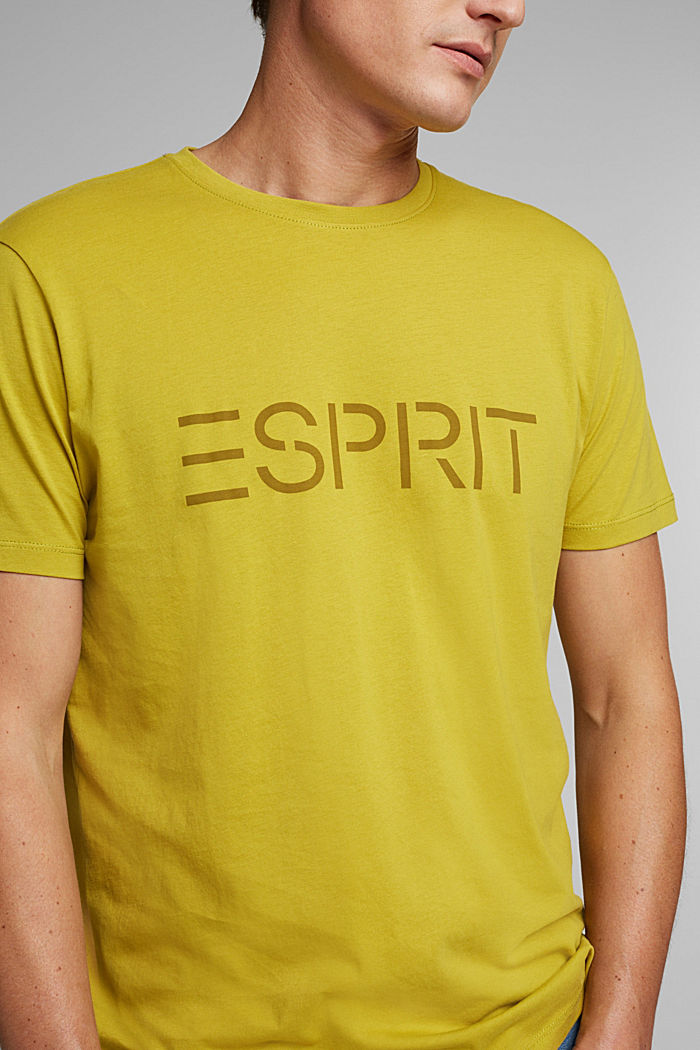 Jersey T-shirt with a logo, made of organic cotton, PISTACHIO GREEN, detail image number 1