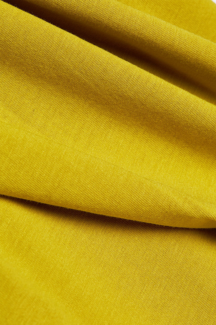 Jersey T-shirt with a logo, made of organic cotton, PISTACHIO GREEN, detail image number 4
