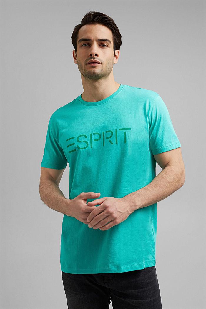 Logollinen jersey-T-paita luomupuuvillasta