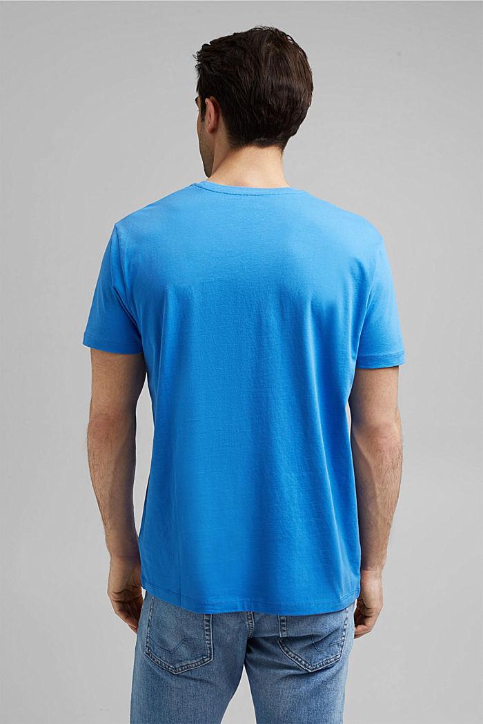 Jersey-T-Shirt mit Logo aus Organic Cotton, BLUE, detail image number 3