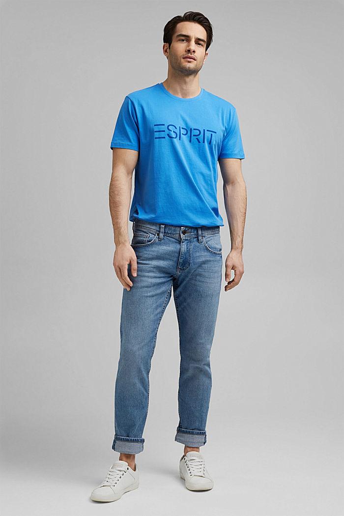Jersey-T-Shirt mit Logo aus Organic Cotton, BLUE, detail image number 2