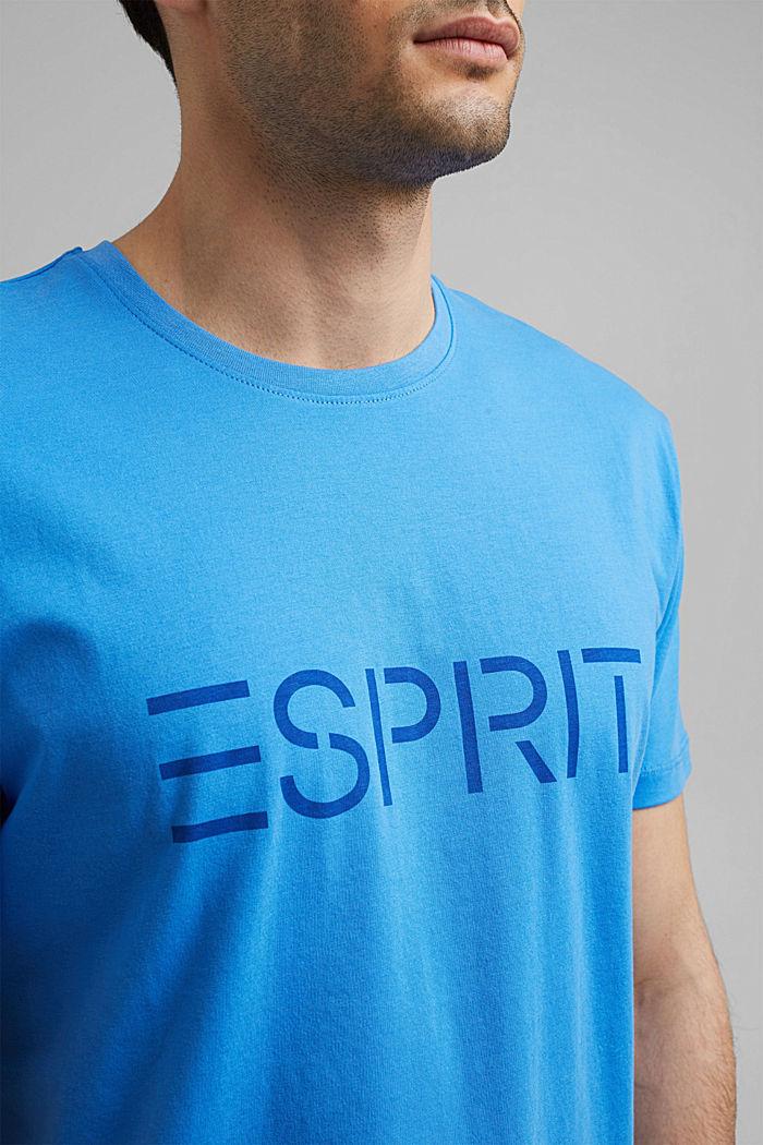 Jersey-T-Shirt mit Logo aus Organic Cotton, BLUE, detail image number 1