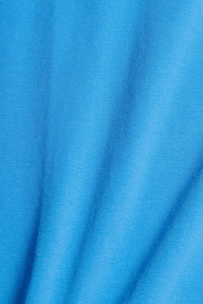 Jersey-T-Shirt mit Logo aus Organic Cotton, BLUE, detail image number 4