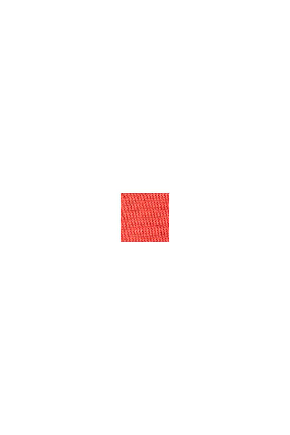 Jersey T-shirt van biologisch katoen met logo, CORAL RED, swatch