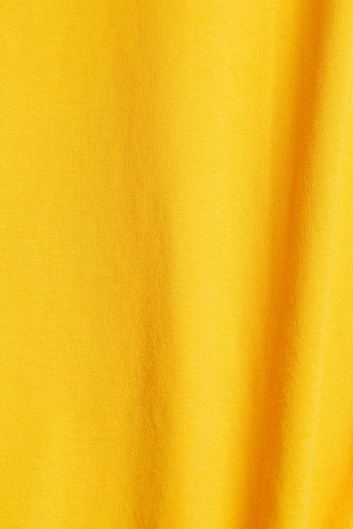Jersey T-shirt with a logo, made of organic cotton, SUNFLOWER YELLOW, detail image number 4