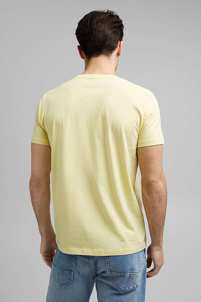 Jersey-T-Shirt mit Logo aus Organic Cotton, LIGHT YELLOW, detail image number 3
