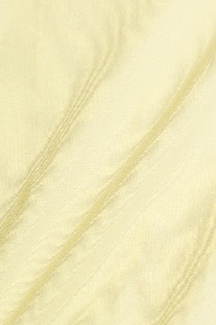 Jersey-T-Shirt mit Logo aus Organic Cotton, LIGHT YELLOW, detail image number 5