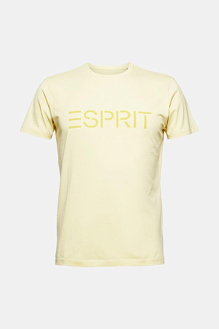 Jersey-T-Shirt mit Logo aus Organic Cotton, LIGHT YELLOW, detail image number 6