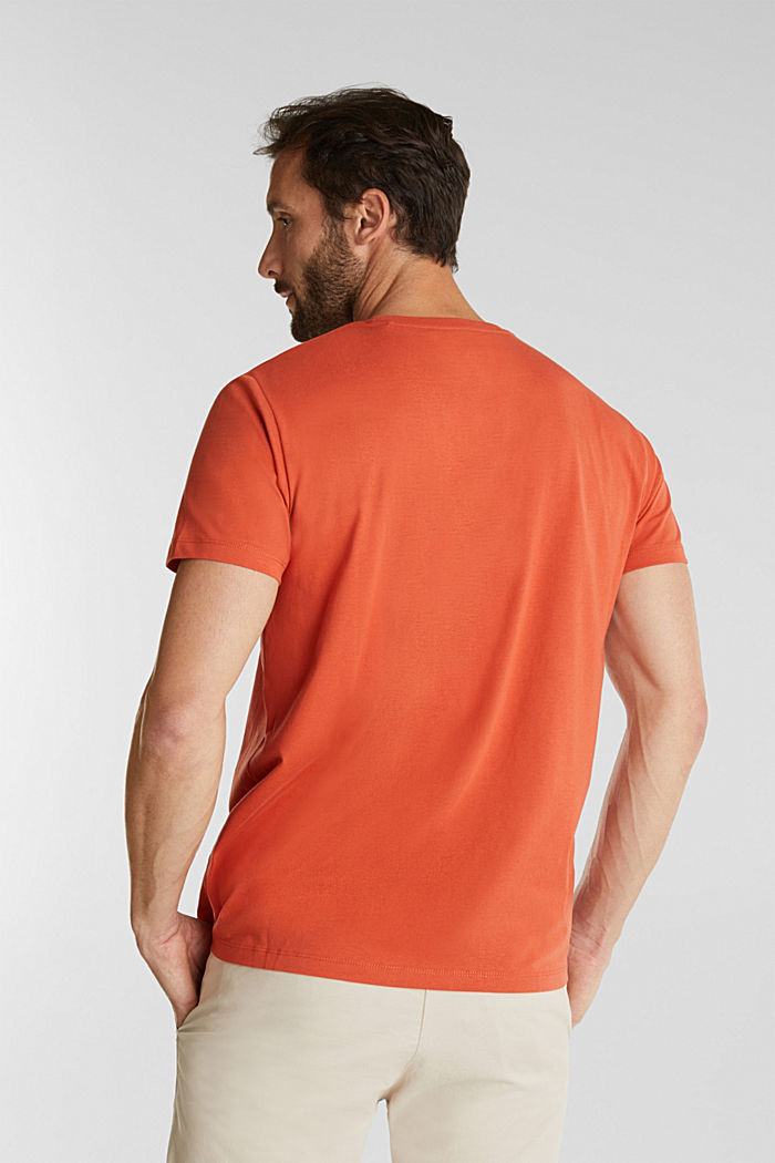 Jersey top made of 100% organic cotton, BURNT ORANGE, detail image number 3