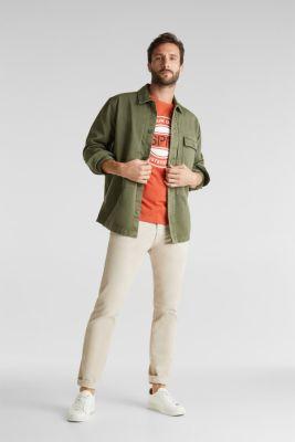 Jersey top made of 100% organic cotton, BURNT ORANGE, detail